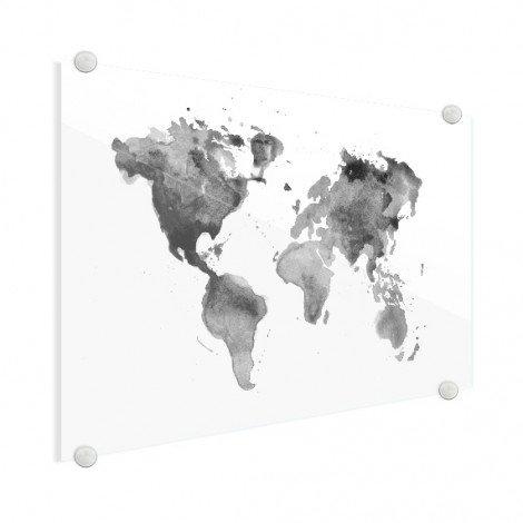 Aquarel zwart - wit plexiglas