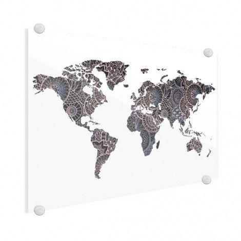 Aziatische print zwart-roze plexiglas