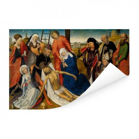 De bewening van Christus - Schilderij van Rogier van der Weyden Poster