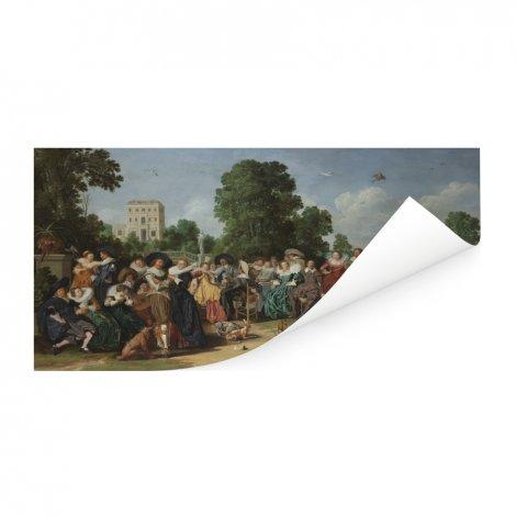 De buitenpartij - Kunstreproductie van Dirck Hals Poster