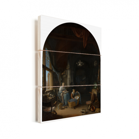 De jonge moeder - Schilderij van Gerrit Dou Vurenhout met planken