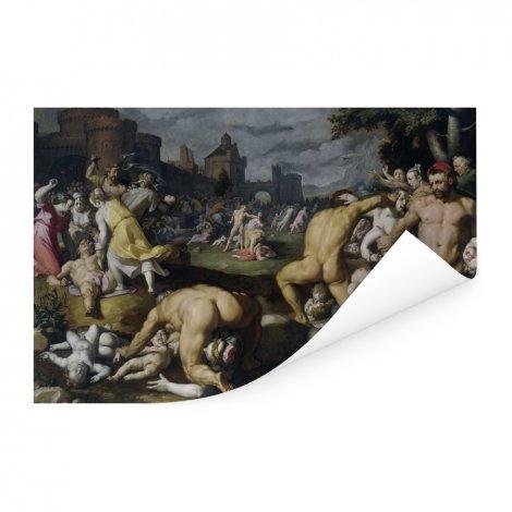 De kindermoord in Bethlehem - Schilderij van Cornelis Cornelisz van Haarlem Poster