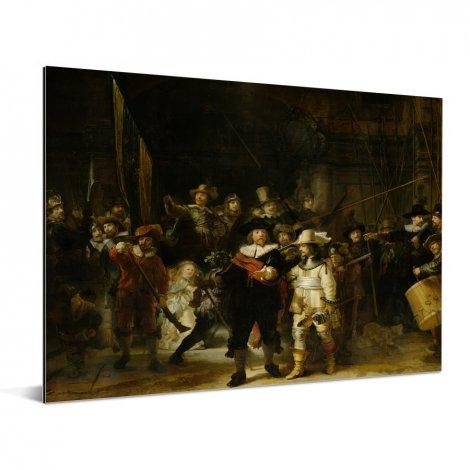 De Nachtwacht - Schilderij van Rembrandt van Rijn Aluminium