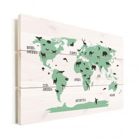 Dieren groen hout