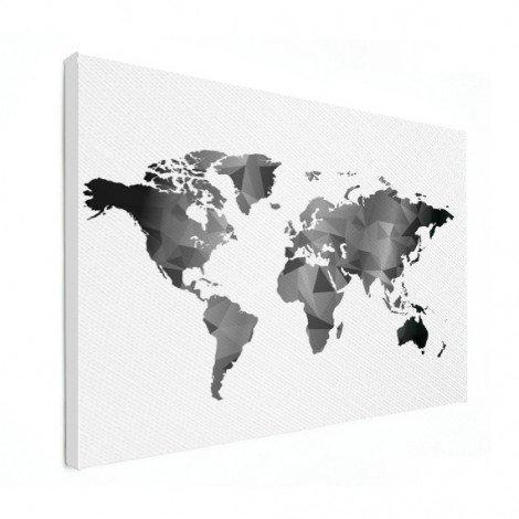 Geometrisch - zwart wit canvas