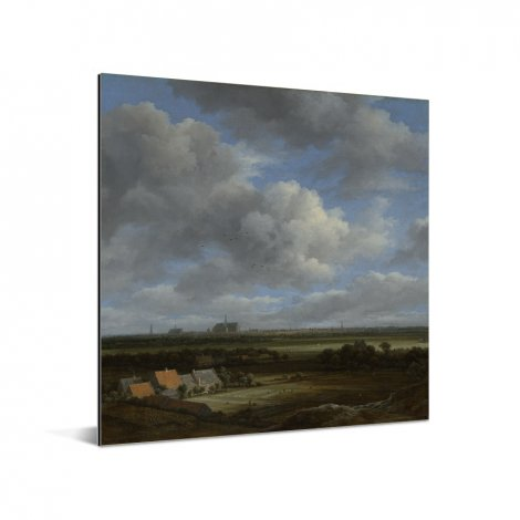 Gezicht op Haarlem uit het noordwesten - Schilderij van Jacob van Ruisdael Aluminium