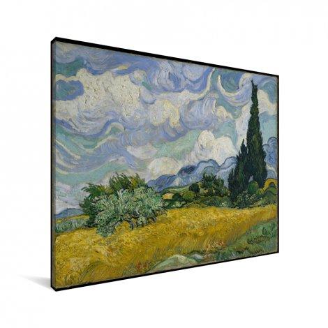 Korenveld met cipressen - Schilderij van Vincent van Gogh Canvas