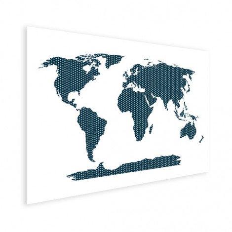 Kruisjes en plusjes blauw poster