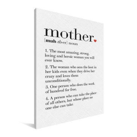 Moederdag - definitie Mother Canvas