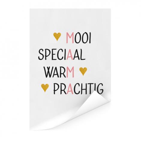 Moederdag - Mama is mooi speciaal warm prachtig Poster