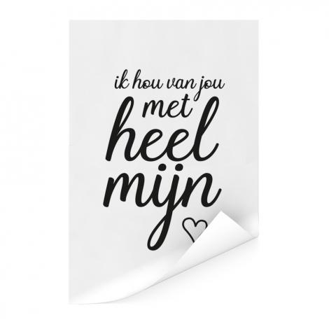 Moederdag - Ik hou van jou met heel mijn hart Poster