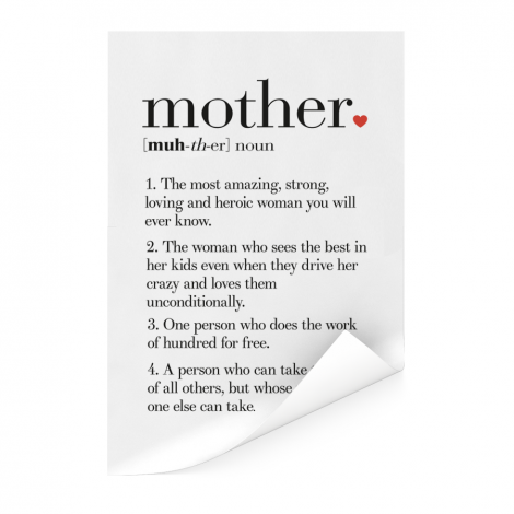 Moederdag - definitie Mother Poster