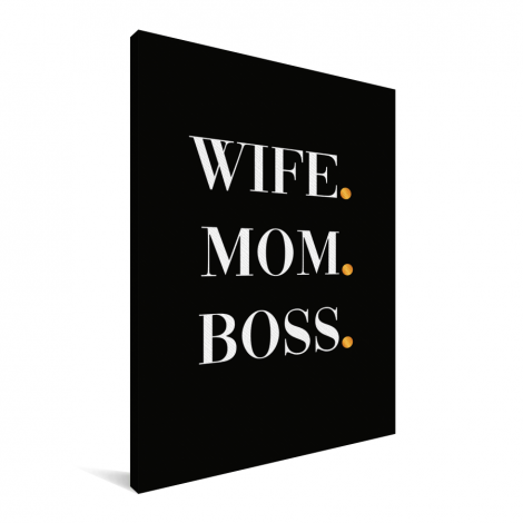 Moederdag - Wife Mom Boss Canvas