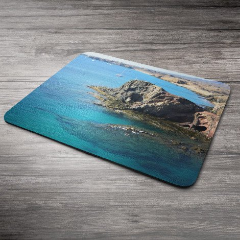 Personalised mouse mat ❤ Your own photo/logo on a mouse mat ☆ Made from natural rubber with linen top layer ❤ Economical gift ✓ Personalised mouse mat