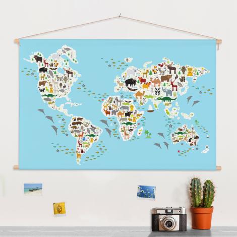 Ons dierenrijk - 2 textielposter