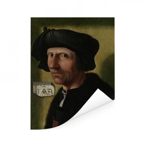 Portret van Jacob Cornelisz van Oostsanen - Schilderij van Jacob Cornelisz van Oostsanen Poster