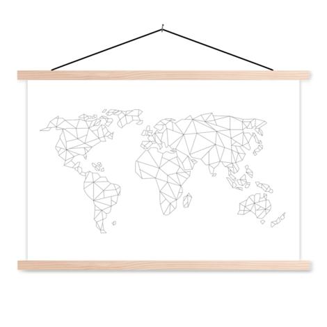 Geometrisch lijn textielposter