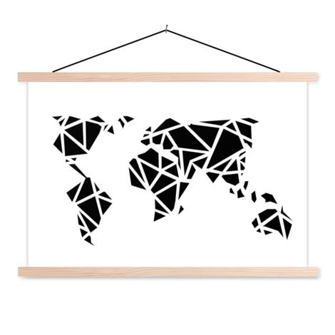 Geometrisch zwart textielposter