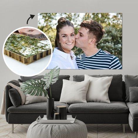Foto op karton woonkamer