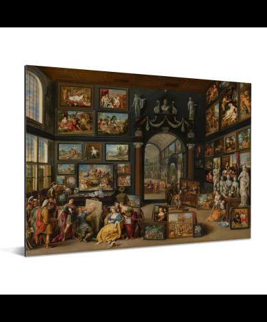 Apelles schildert Campaspe - Schilderij van Willem van Haecht Aluminium