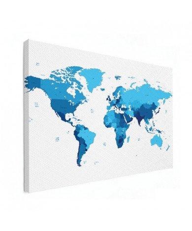 Blauw canvas