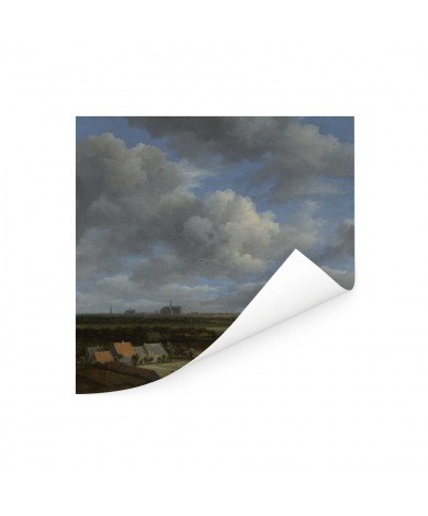 Gezicht op Haarlem uit het noordwesten - Schilderij van Jacob van Ruisdael Poster