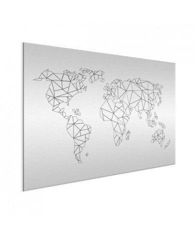 Geometrisch - lijn aluminium