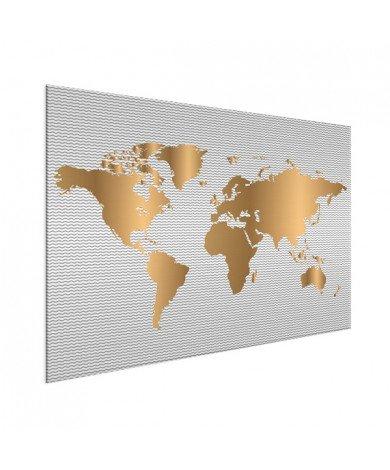 Goud golven aluminium