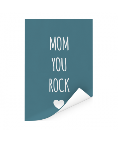 Moederdag - Mom you rock Poster