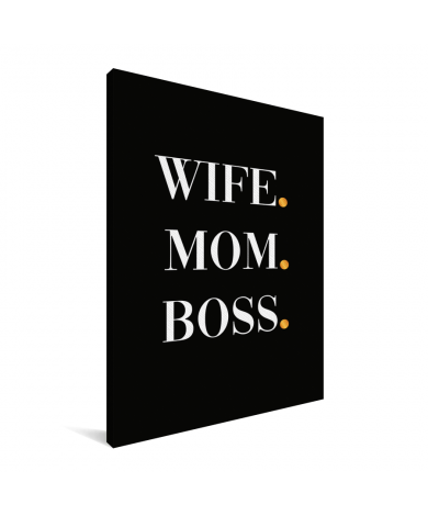 Moederdag - Wife Mom Boss Canvas
