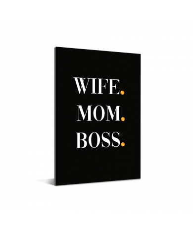 Moederdag - Wife Mom Boss Aluminium