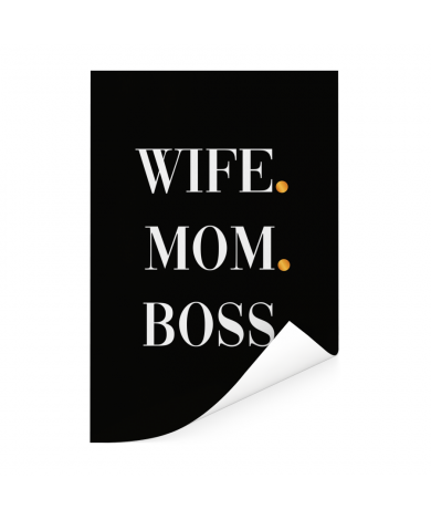 Moederdag - Wife Mom Boss Poster