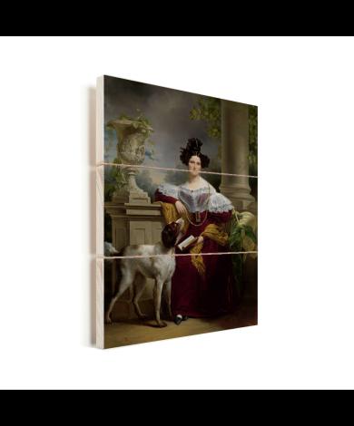 Portret van Alida Christina Assink - Schilderij van Jan Adam Kruseman Vurenhout met planken