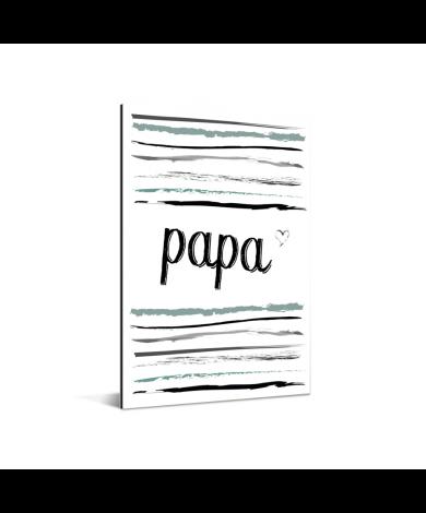 Vaderdag -tekst en strepen - Papa - voor de liefste mama Aluminium