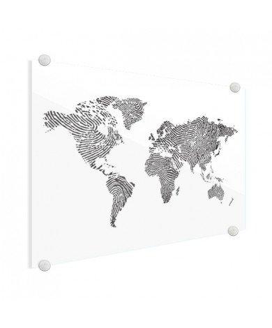 Vingerafdruk - zwart wit plexiglas
