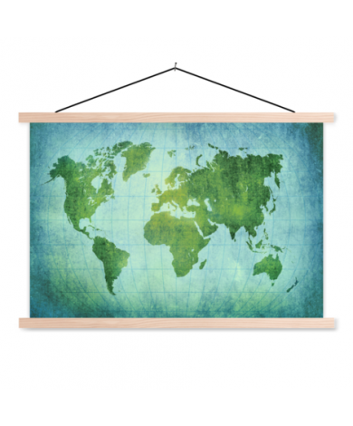 Perkament krachtig groen textielposter
