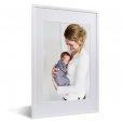 Foto in lijst moeder en baby witte lijst