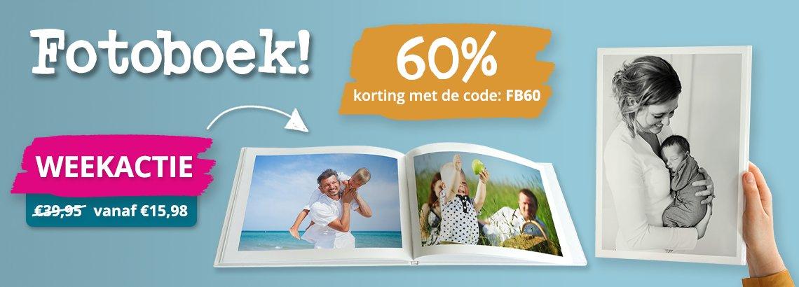 Fotoboeken 60% korting