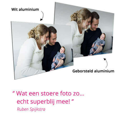 foto op aluminium geborsteld of wit review
