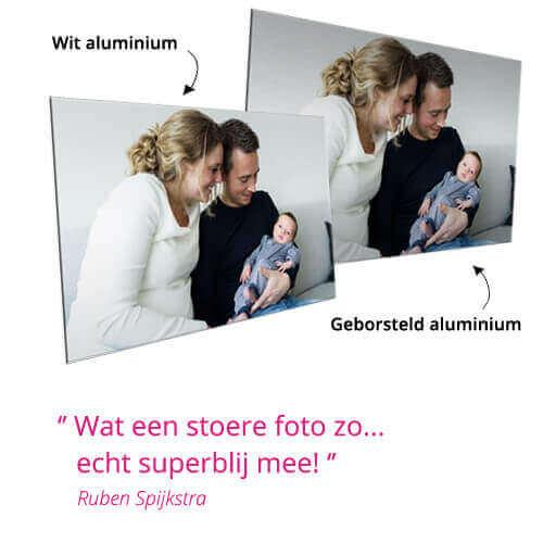 foto op aluminium geborsteld of wit review