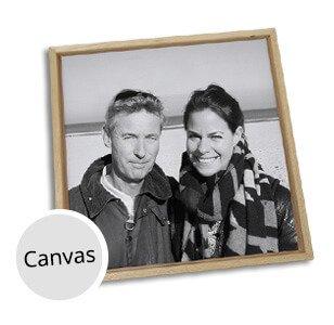 Foto op canvas vader en dochter
