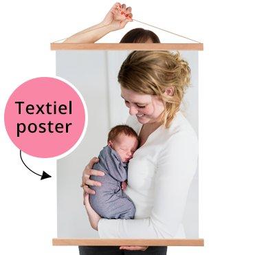 Foto op textielposter