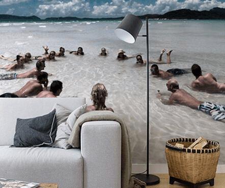 Strandfoto op behang