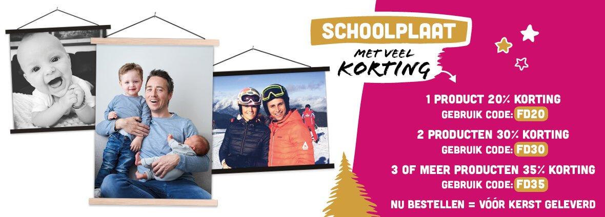 Foto op schoolplaat Kerstkorting