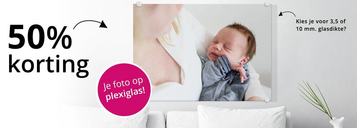 Maandaanbieding december - 50% korting op een foto op plexiglas