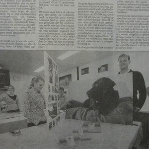 Schilderijprinters draaien overuren in voormalige gereformeerde school