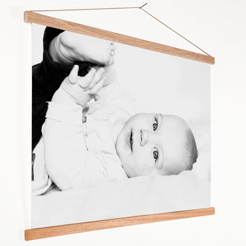 Foto op textielposter met baby
