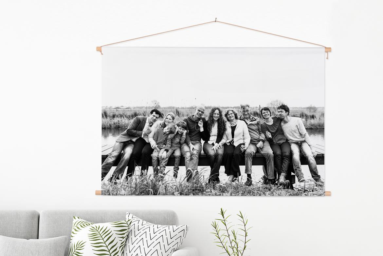 Textielposter met stokken van FotoCadeau.nl