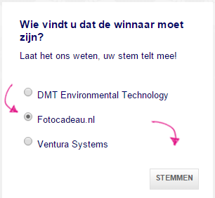 Stem op Fotocadeau.nl