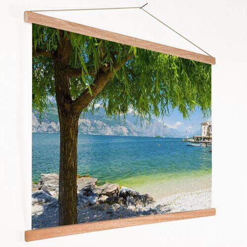 Foto op textielposter met strand